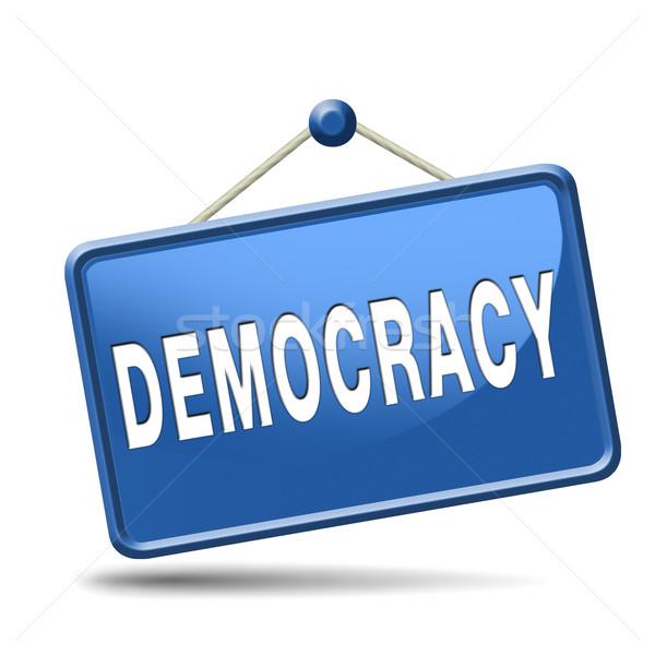 Democrazia politico libertà potere persone nuovo Foto d'archivio © kikkerdirk