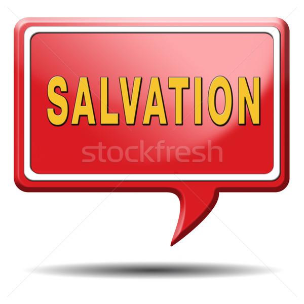 Zbawienie Jezusa boga zapisać dusza ikona Zdjęcia stock © kikkerdirk