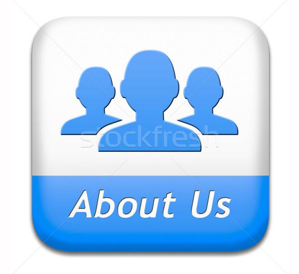 Over ons knop business werken team teken Stockfoto © kikkerdirk