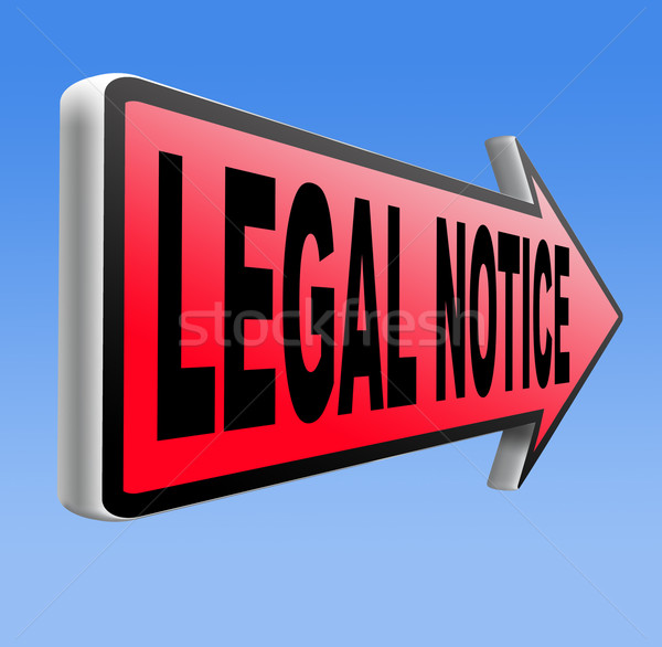 Legal notice Stock photo © kikkerdirk