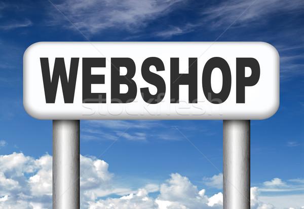 Webshop online winkelen internet web winkel kopen Stockfoto © kikkerdirk
