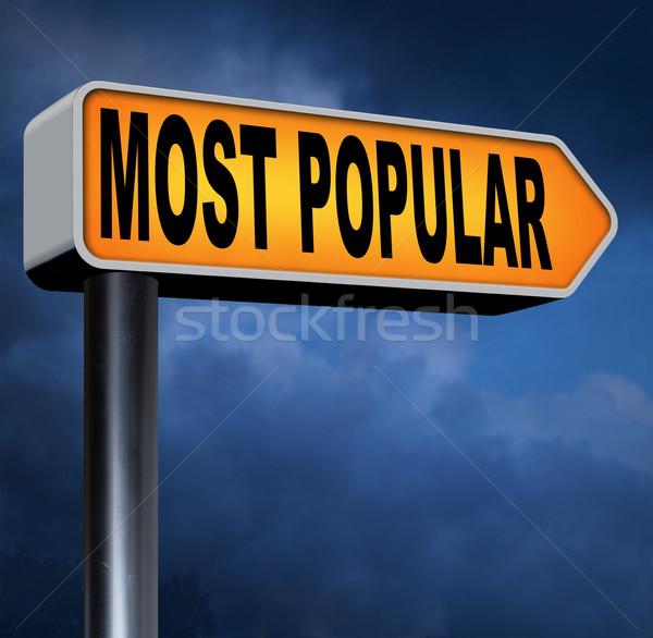 Yol işareti popülerlik en iyi pazar Stok fotoğraf © kikkerdirk