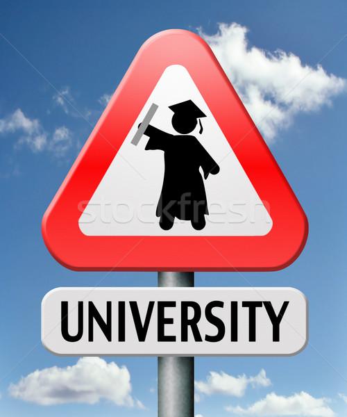 Universität Abschluss Bildung professionelle Schule Stock foto © kikkerdirk