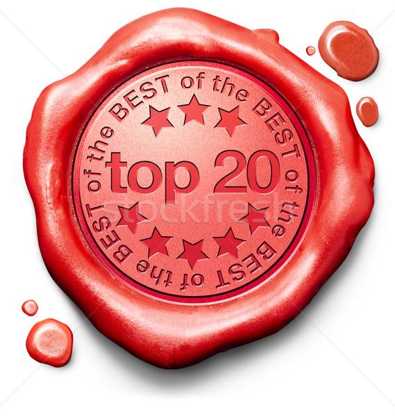 Superior 20 gráficos lista pop Foto stock © kikkerdirk