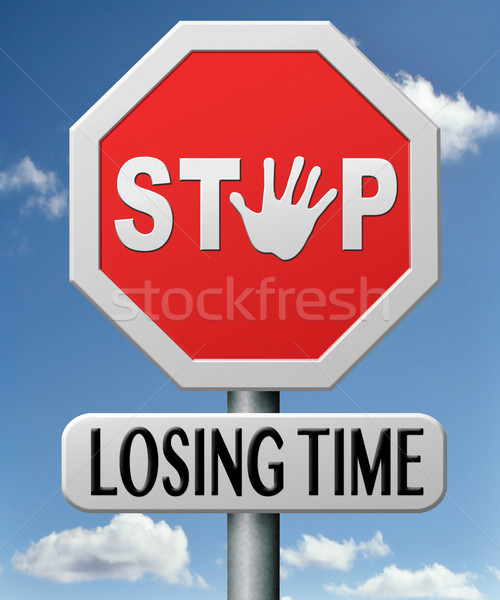 stop lozing time Stock photo © kikkerdirk
