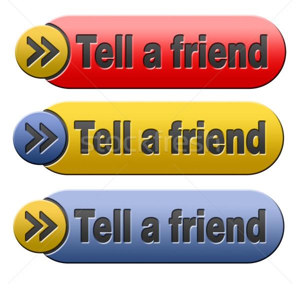 Freund Informationen Website Website Zeichen Stock foto © kikkerdirk