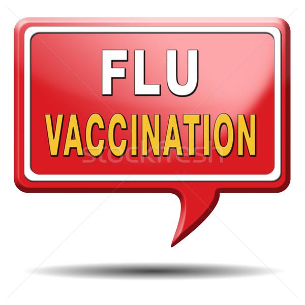 flu vaccination Stock photo © kikkerdirk