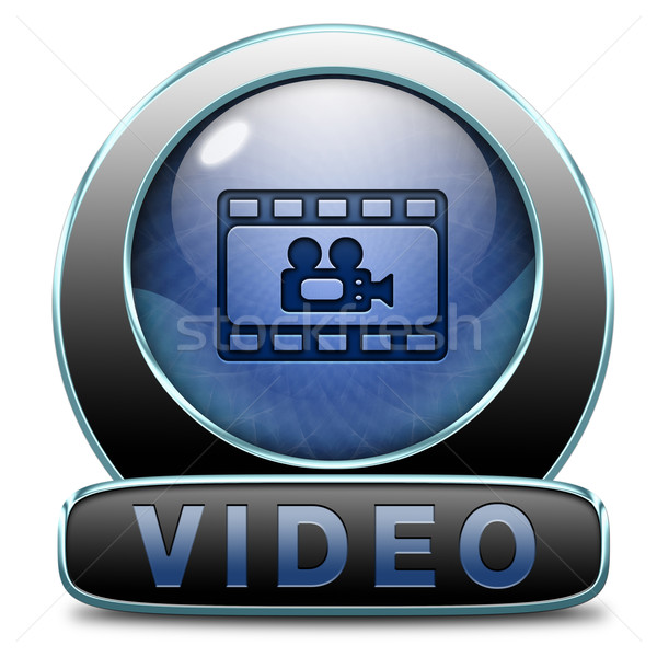 Izlemek video burada şimdi film simgesi indir Stok fotoğraf © kikkerdirk