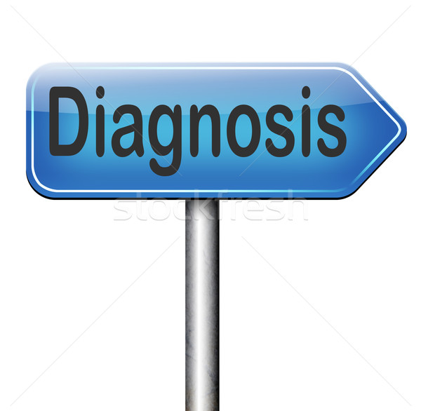 Diagnóstico médico diagnóstico opinião médico perguntar Foto stock © kikkerdirk