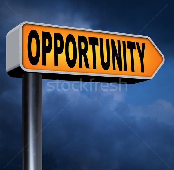 возможность шанс дороги успех бизнеса информации Сток-фото © kikkerdirk