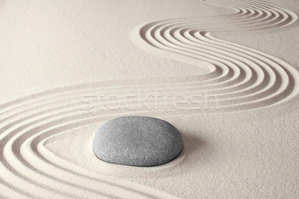 Spirituális zen meditáció japán kő kert Stock fotó © kikkerdirk