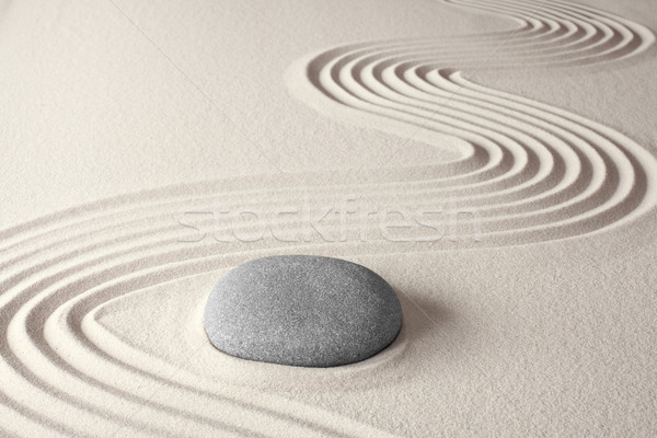 духовных zen медитации Японский рок саду Сток-фото © kikkerdirk