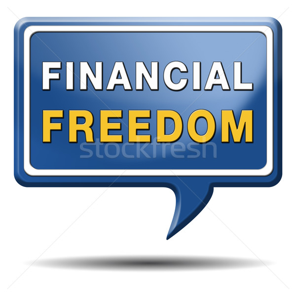 financial freedom sign Stock photo © kikkerdirk