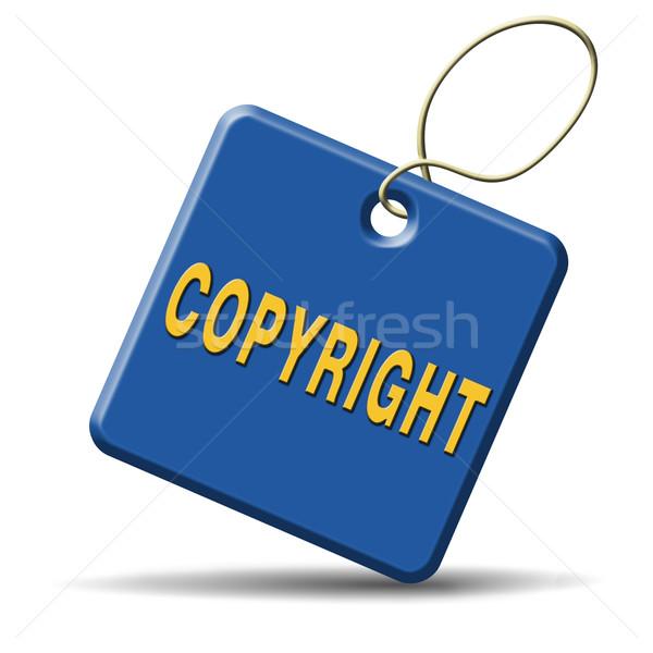 Diritto d'autore protetta legge marchio di fabbrica brevetto Foto d'archivio © kikkerdirk