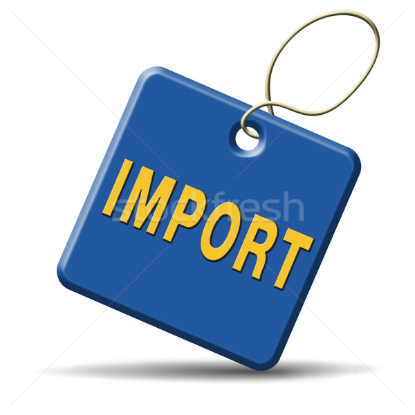 Import nemzetközi világszerte globális kereskedelem világ Stock fotó © kikkerdirk