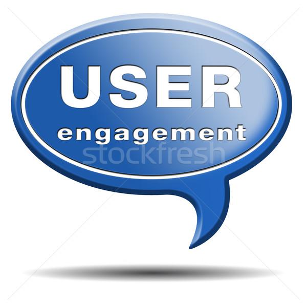 user engagement Stock photo © kikkerdirk