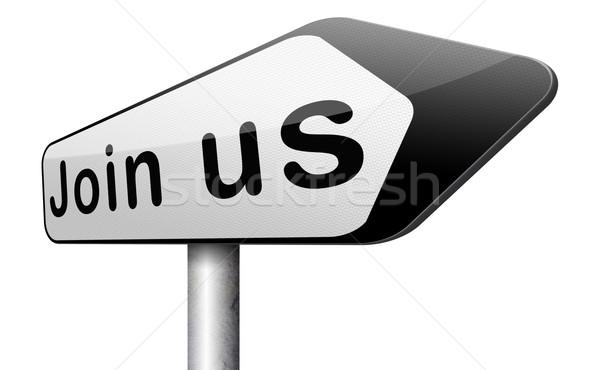 Teken nu hier lid vandaag lidmaatschap Stockfoto © kikkerdirk
