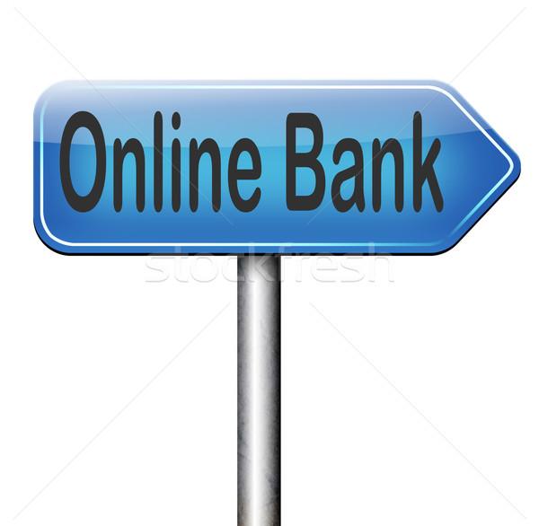 онлайн банка интернет банковской деньги депозит Сток-фото © kikkerdirk
