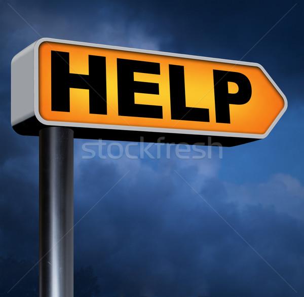 Helpen gezocht behoefte helpende hand hulp ondersteuning Stockfoto © kikkerdirk