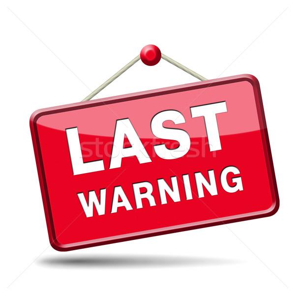 last warning sign Stock photo © kikkerdirk