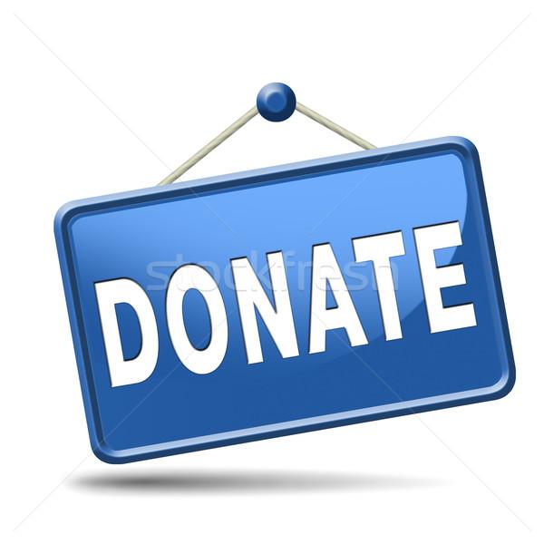 Doar dar caridade ajudar fundo dinheiro Foto stock © kikkerdirk