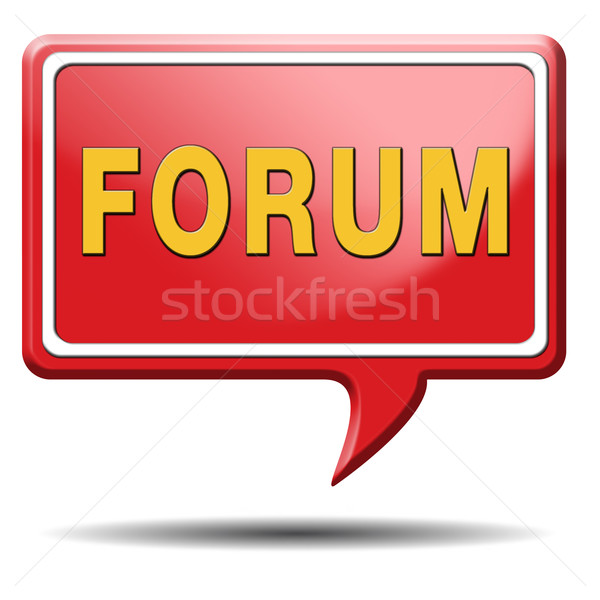 Forum internet site www s'identifier discussion Photo stock © kikkerdirk