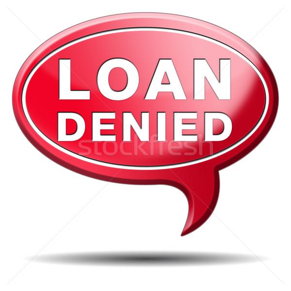 loan denied Stock photo © kikkerdirk