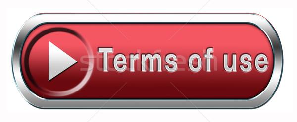 terms of use button Stock photo © kikkerdirk