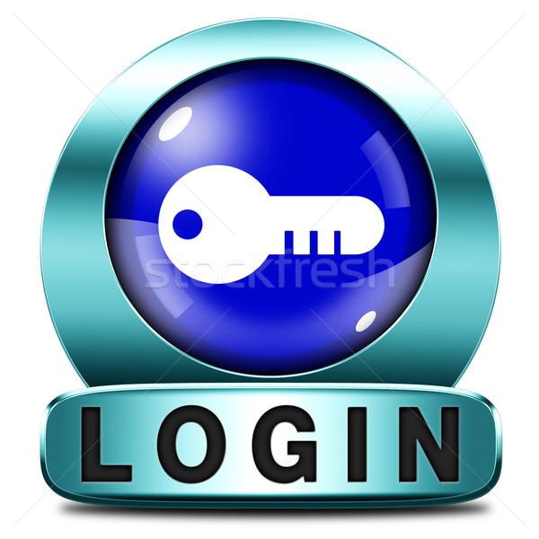 Login ícone usuário membro botão site Foto stock © kikkerdirk