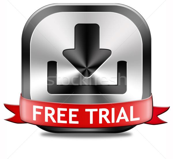 Free trial download button Stock photo © kikkerdirk