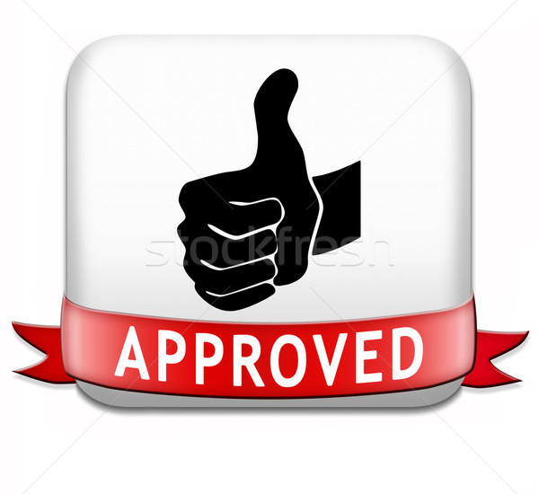 approved button Stock photo © kikkerdirk