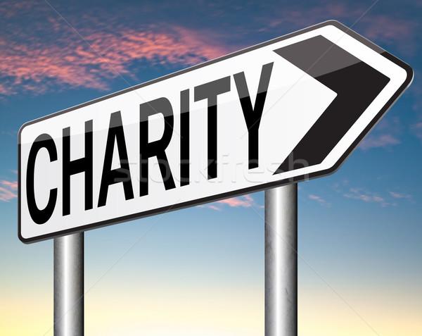 Hayır bağış vermek muhtaç yoksul bağışlamak Stok fotoğraf © kikkerdirk