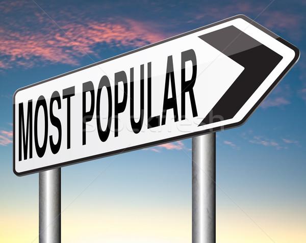 Popular placa sinalizadora popularidade bestseller mercado Foto stock © kikkerdirk