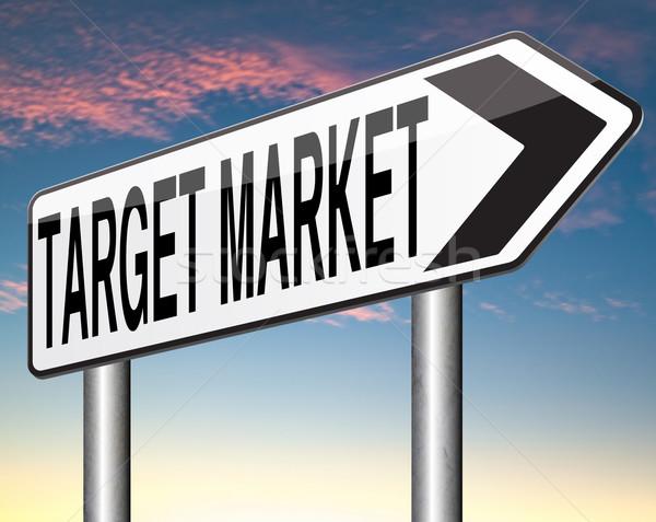 Cél piac üzlet célzás niche marketing stratégia Stock fotó © kikkerdirk