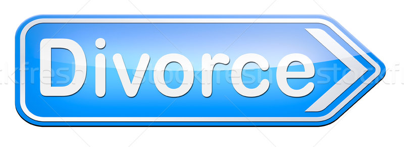 Válás papírok irat ügyvéd befejezés házasság Stock fotó © kikkerdirk