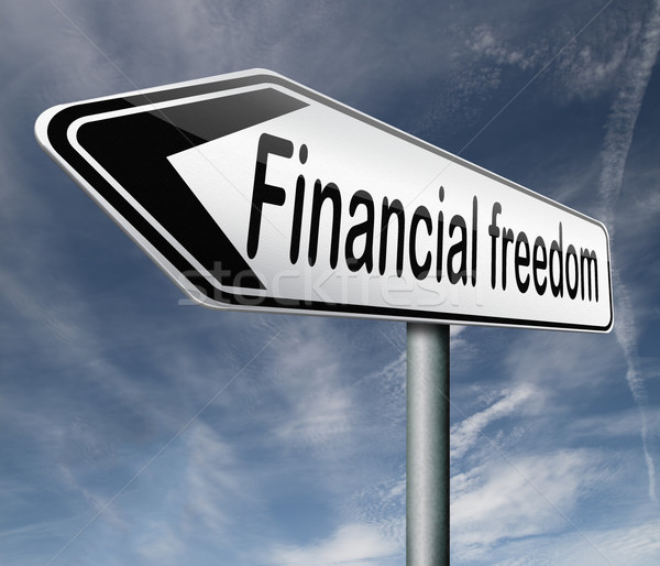 financial freedom Stock photo © kikkerdirk