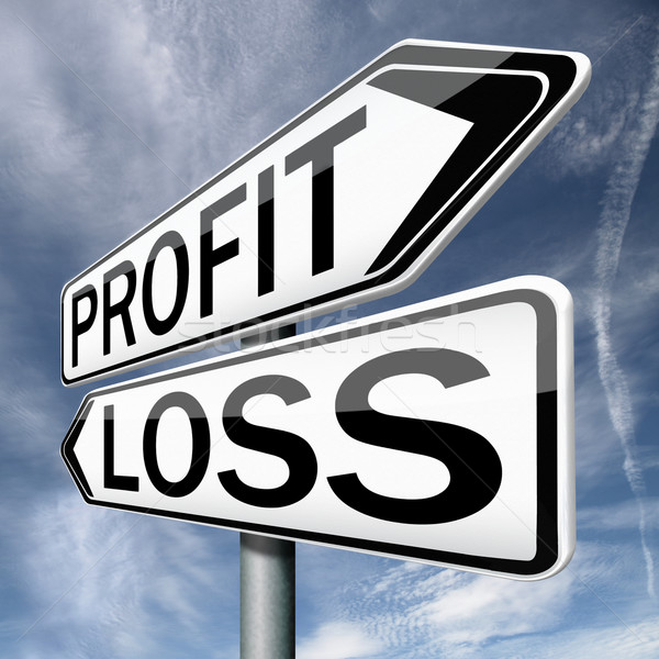 прибыль потеря выиграть свободный финансовых Фондовый рынок Сток-фото © kikkerdirk