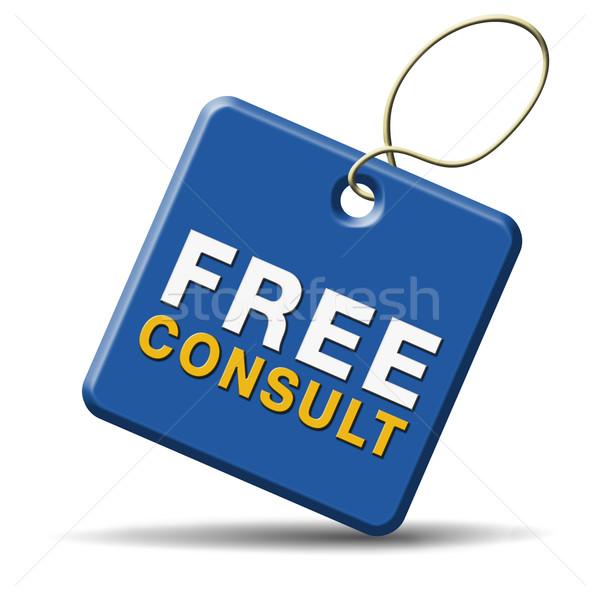 свободный консультации икона поддержки столе помочь Сток-фото © kikkerdirk