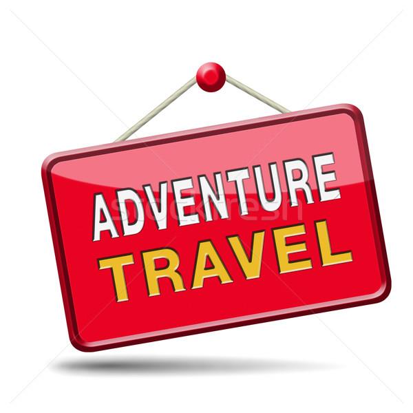 Avontuur reizen wereld avontuurlijk buitenshuis Stockfoto © kikkerdirk