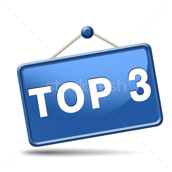 top 3 icon Stock photo © kikkerdirk