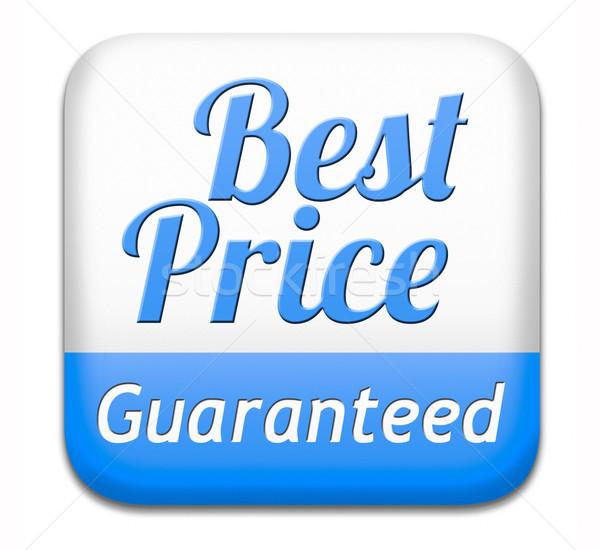 Beste prijs gegarandeerd knop laag prijs koopje Stockfoto © kikkerdirk