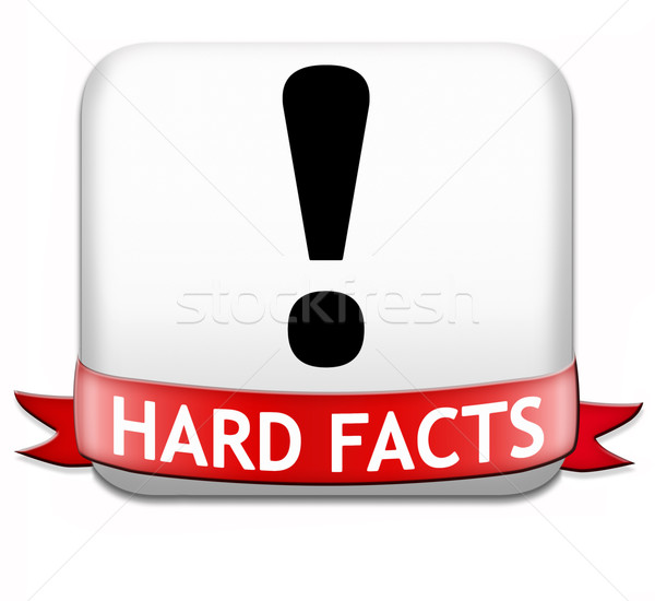 Tények tudományos bizonyosság tény gomb ikon Stock fotó © kikkerdirk