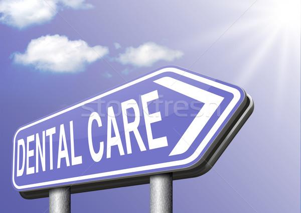 Zahnpflege Krankenversicherung Zähne Chirurgie Behandlung Klinik Stock foto © kikkerdirk