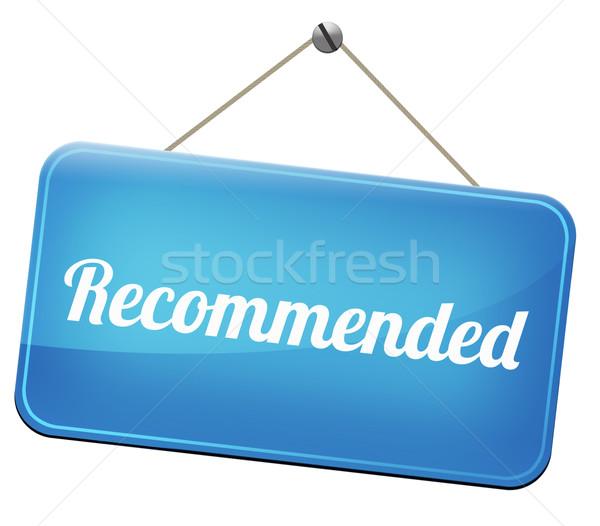 Felső minőség termék javaslat legjobb választás felirat Stock fotó © kikkerdirk