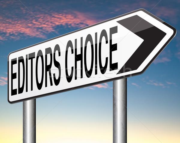 Elección adjudicación mejor editor etiqueta banner Foto stock © kikkerdirk