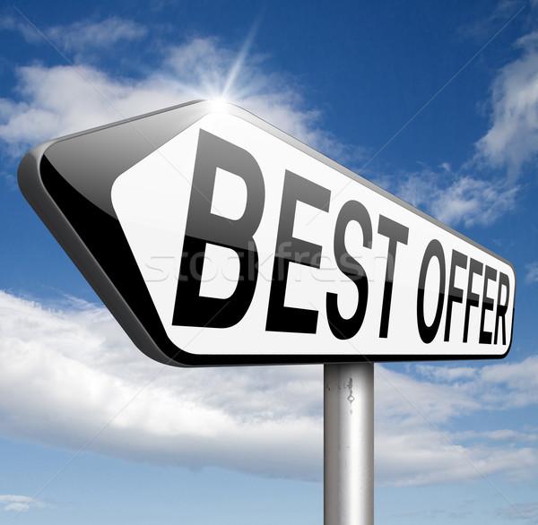 Legjobb ajánlat üzlet ár érték háló Stock fotó © kikkerdirk
