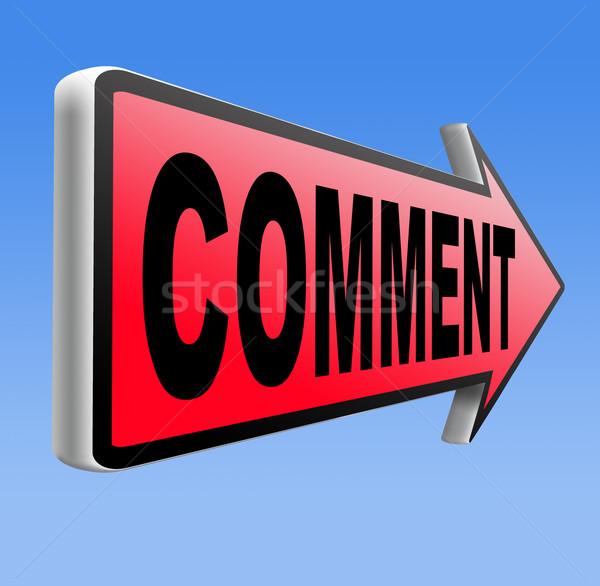 Comentar comentários escrever comentários produto Foto stock © kikkerdirk