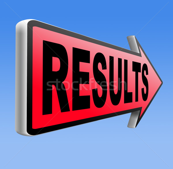Resultaten business succes winnaar verkiezingen Stockfoto © kikkerdirk