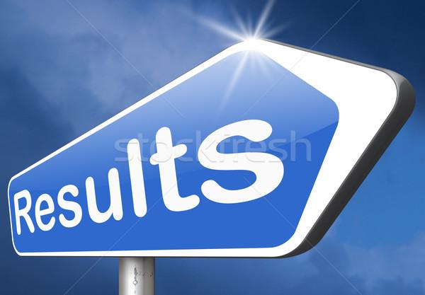 Eredmények teszteredmények siker üzlet siker nyertes Stock fotó © kikkerdirk
