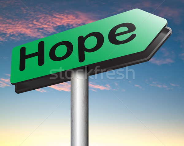 hope sign Stock photo © kikkerdirk